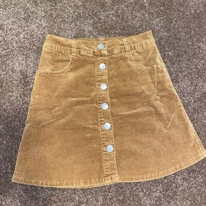 Tan brandy skirt